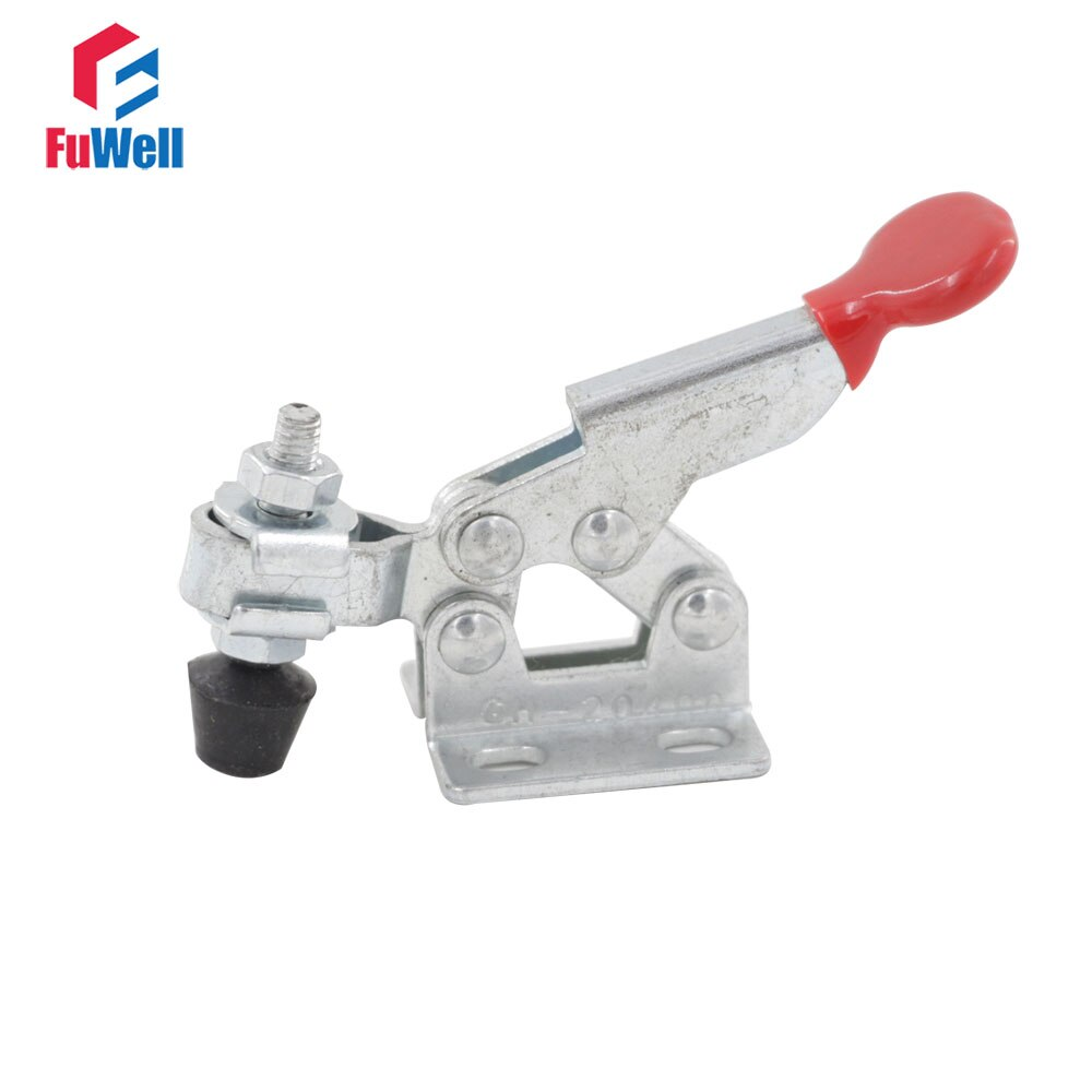 GH-20400 Toggle Clamp 20Kg 44Lbs Holding Capacity Toggle Clamp Latch Hand Tool Metal Horizontal Toggle Fixture Clamps