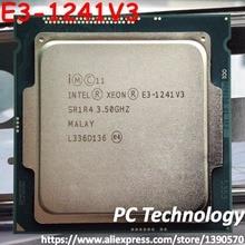 Original Intel Xeon E3-1241V3 CPU 3.50GHz 8M LGA1150 Quad-core Desktop E3-1241 V3 processor Free shipping E3 1241V3