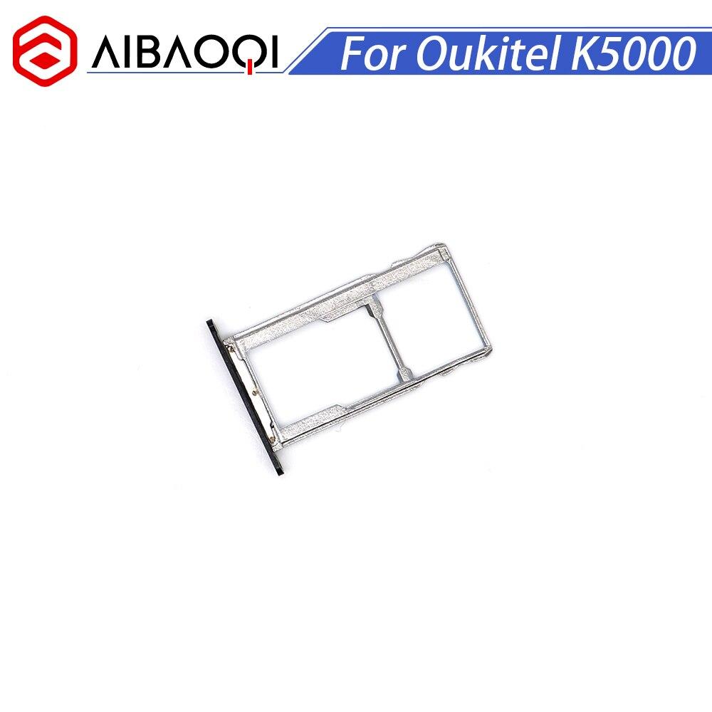 AiBaoQi, nuevo soporte Original Oukitel K5000 para tarjeta Sim, 100%, Soporte Original de bandeja con ranura para tarjeta Sim para teléfono inteligente Oukitel K5000