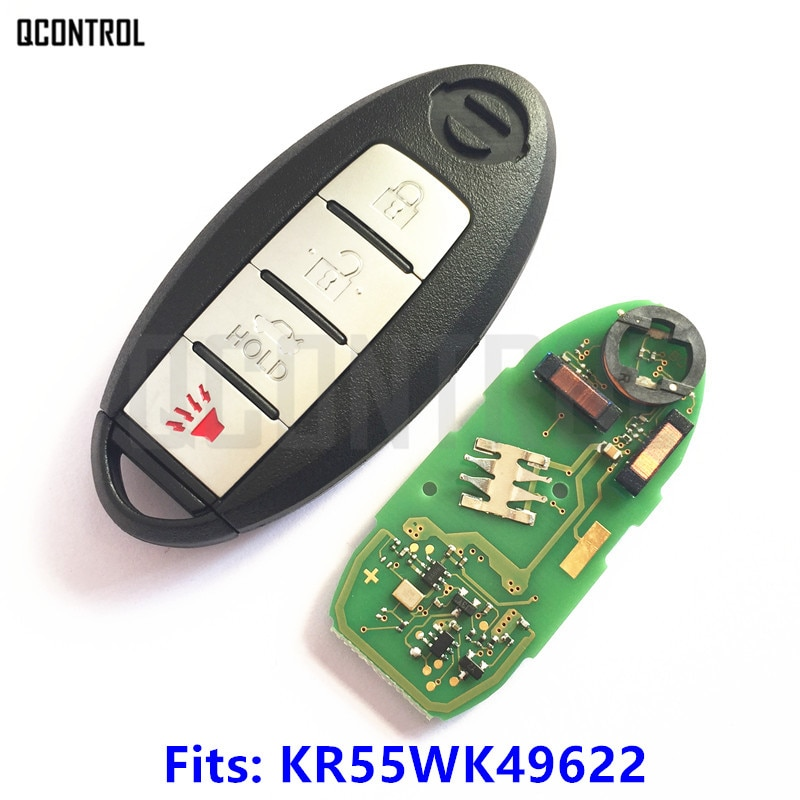 QCONTROL смарт-карта дистанционного управления, ключ для NISSAN Altima Teana Maxima MURANO для Infiniti G25 G35 G37 Q60 FX35 FX37 QX70 FX50
