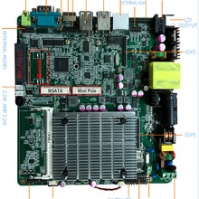 2019 placa base barata J1800 J1900 un Gigabit Ethernet 1x puertos RS232 4xUSB industrial sin ventilador itx placa base