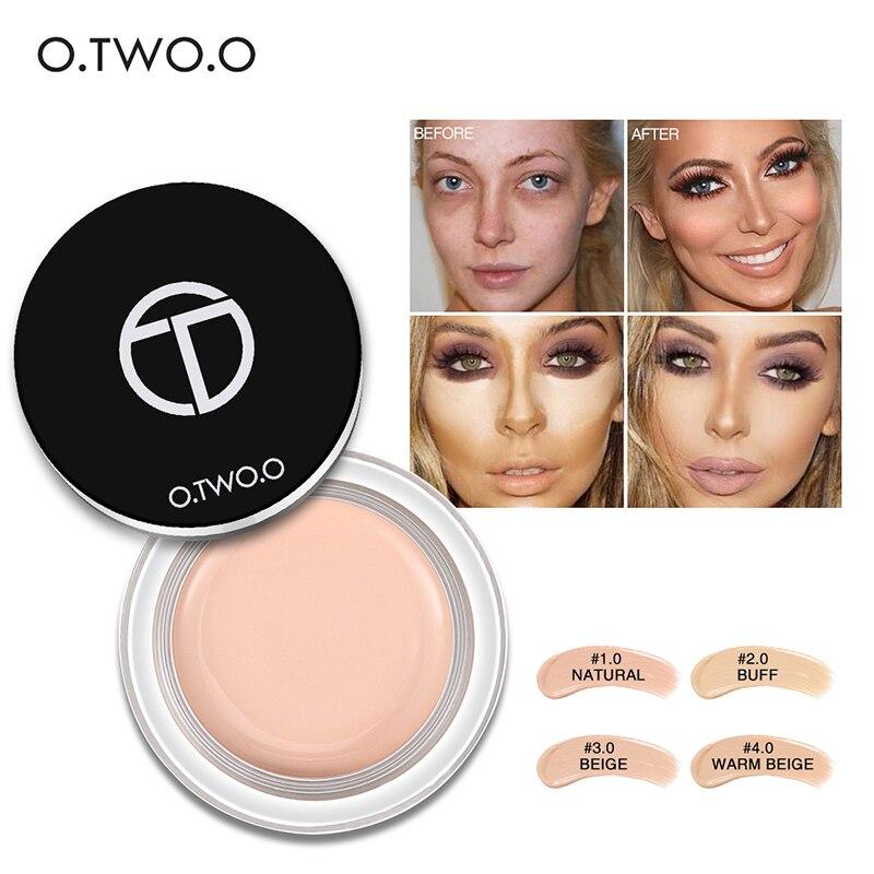 O. TW O.O Pro corrector resistente al agua crema imprimación de maquillaje Base completa de arrugas Base duradera de aceite-Control corrector pecas cubierta