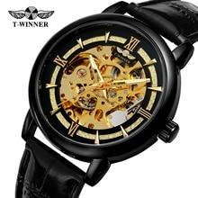 2019 Winner Top Brand Transparent 3d Gear Movement Mens Business Luxury Desing Mechanical Automatic Wrist Watches Skeleton Clock