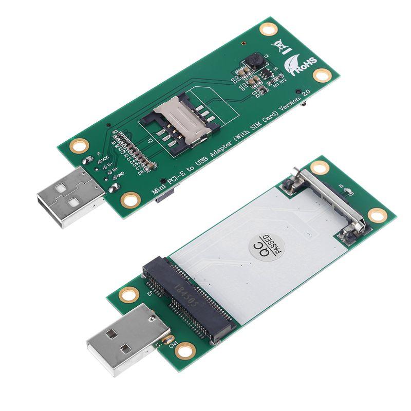 Mini pci-e sem fio wwan para usb adaptador cartão com slot para cartão sim para huawei em730 transporte da gota