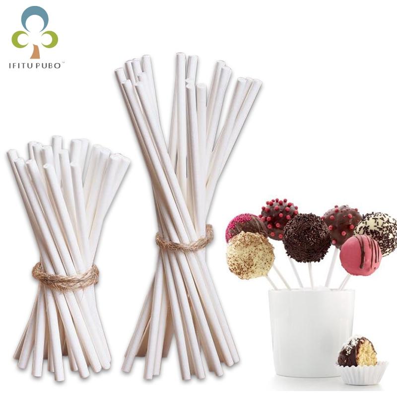 Palo de Piruleta de 7 cm/14 cm, palitos de papel con ventosa de calidad alimentaria, palitos para colocar en pasteles, para piruletas, caramelo, Chocolate, azúcar, Polo GYH