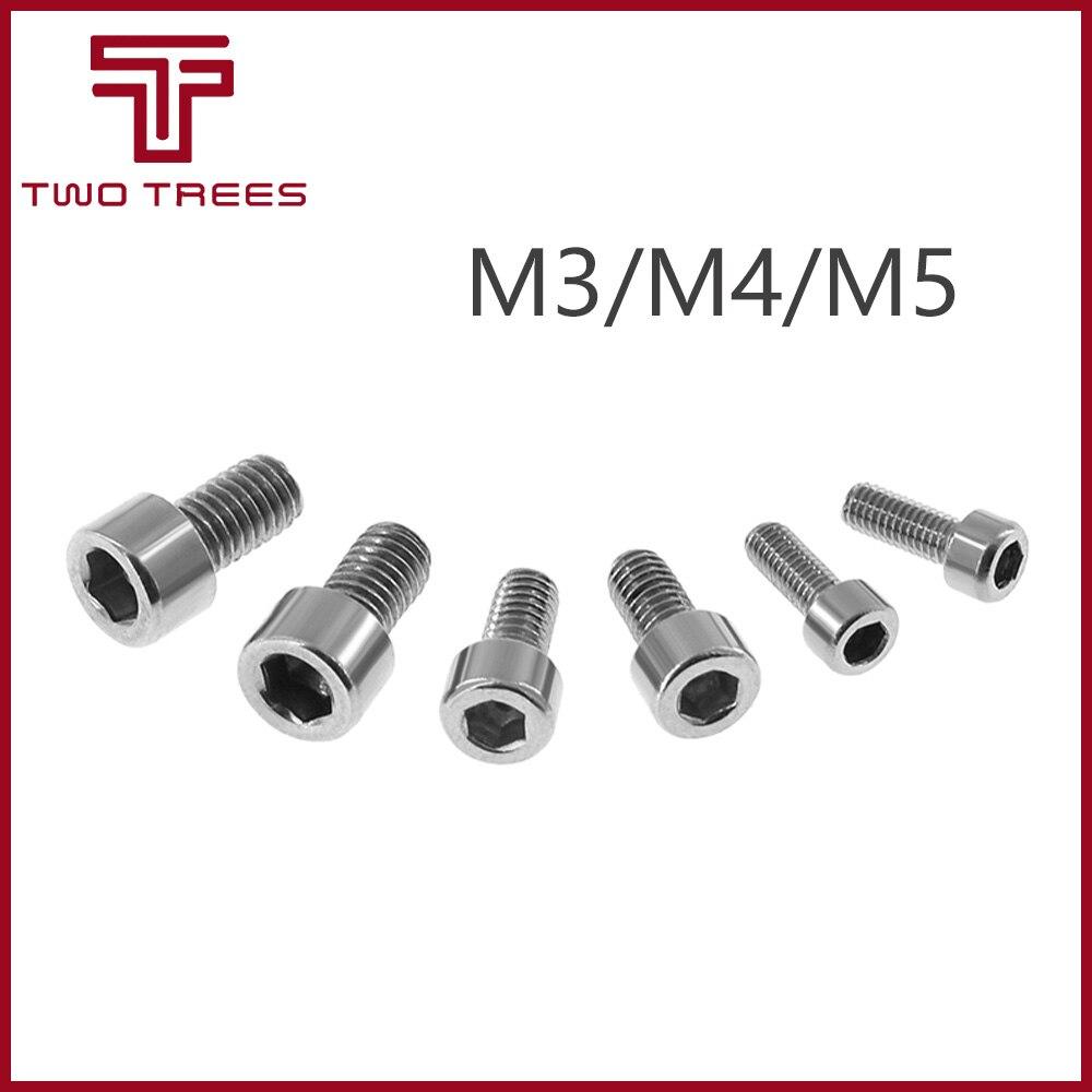 10 шт. M3/M4/M5 DIN912 304 Шестигранная головка из нержавеющей стали, винты с внутренней шестигранной головкой, болт с метрической резьбой, детали для 3D-принтера