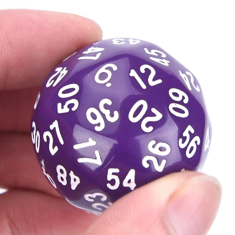 6 colores 1 piezas de acrílico dados regalo para amantes de los juegos de + bolsa de tela 60 cara dados juego poliédrico D60