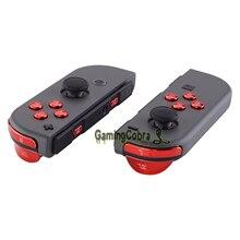 Chrome rouge remplacement ABXY Direction touches SR SL L R ZR ZL déclencheur complet boutons avec outils pour Nintendo Switch Joy-Con