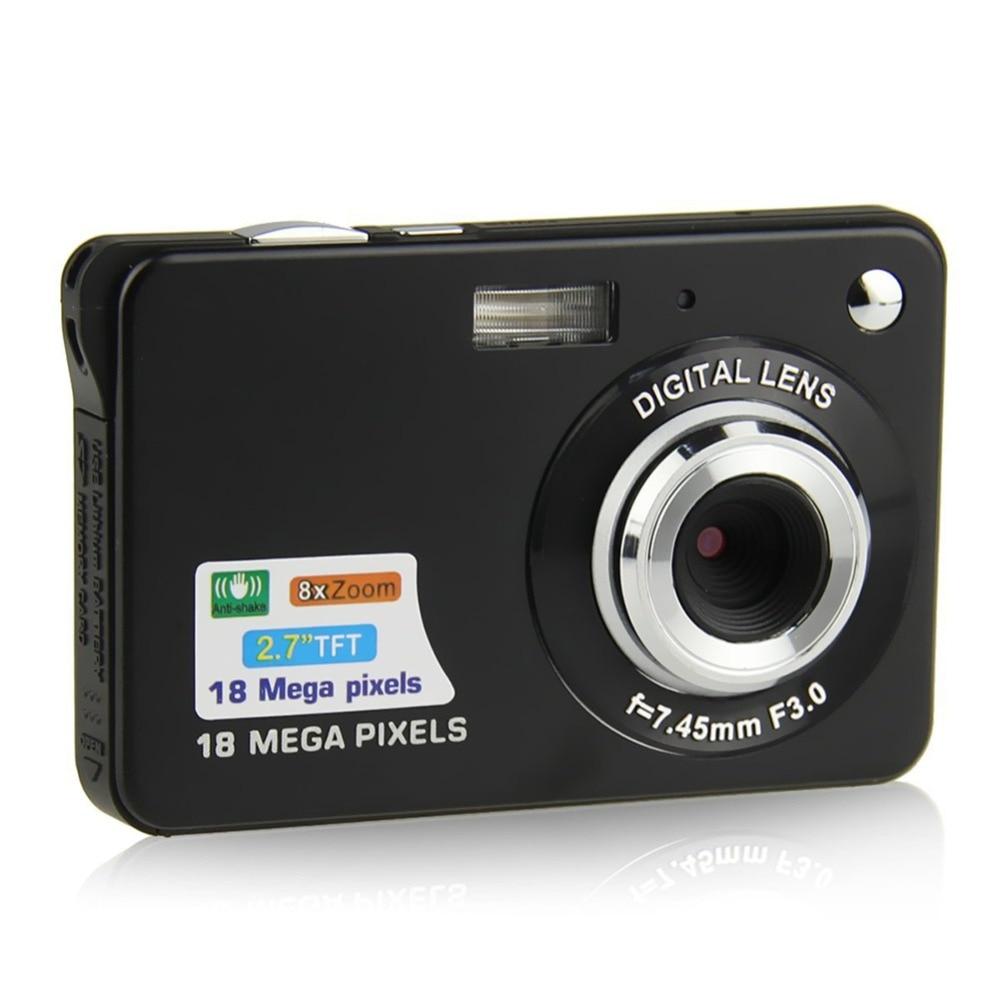 2.7 cal 18MP 720P dzieci przenośny mini-cyfrowy aparat 8X Zoom ekran TFT LCD kamera wideo Anti-Shake aparat fotograficzny dzieci prezent