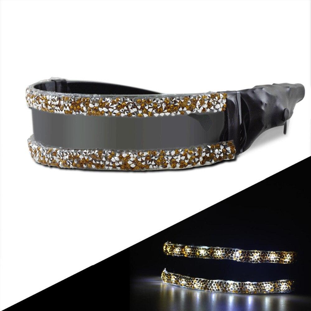 Cwlaser 600 lumens 3 modos recarregável óculos de led com 24 pces de lâmpadas led para dacing, festas e shows (preto)