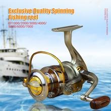 Exklusive qualität Alle Metall spinning angeln reel linie wickler geschwindigkeit verhältnis 5,1 1 zu Ozean Meer boot Felsen Ice fishing tackle EF