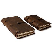 2019 cuir Vintage Journal portable Journal couverture vierge chaîne couverture rigide doux cahier en cuir véritable carnet de notes agenda quotidien
