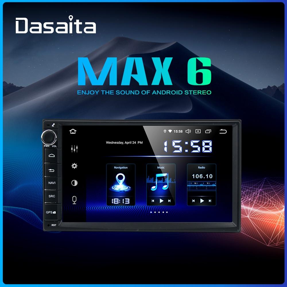 "Dasaita 7 ""Pantalla táctil IPS Radio de coche TDA7850 Android 9,0 Universal 2 Din coche estéreo Bluetooth navegación GPS 64GB ROM MAX6"