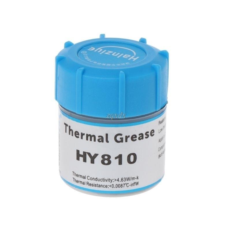 Pasta térmica HY810-CN10 10g, disipador de calor, pasta de silicona para CPU, disipador de calor, procesador de refrigeración, triangulación de envíos