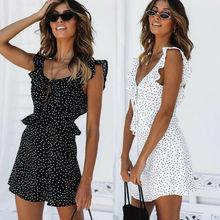 Women Boho Floral Short Mini Dress Elegant Party Evening Summer Beach Holiday Sun Dress