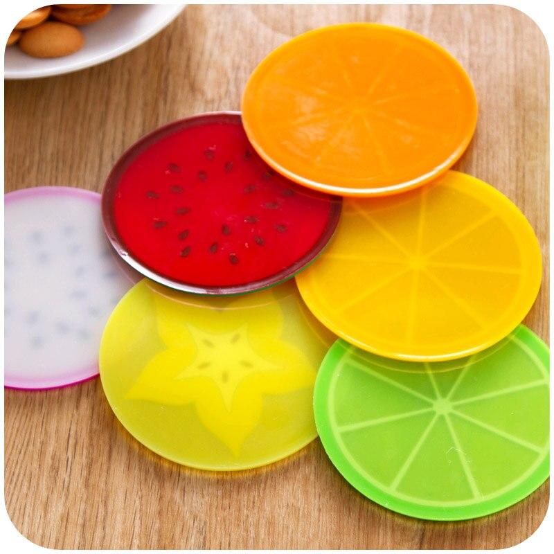 Posavasos de fruta fresca para tazas, Decoración de mesa, papelería, accesorios de oficina, útiles escolares, A5187, 6 uds.
