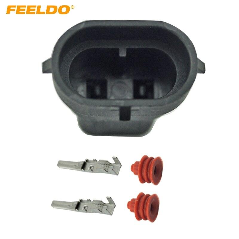 Conectores de zócalo FEELDO 10 Uds para faros delanteros de coche HID macho para H8 H9 H11 880 881 luces LED/HID # FD-1866