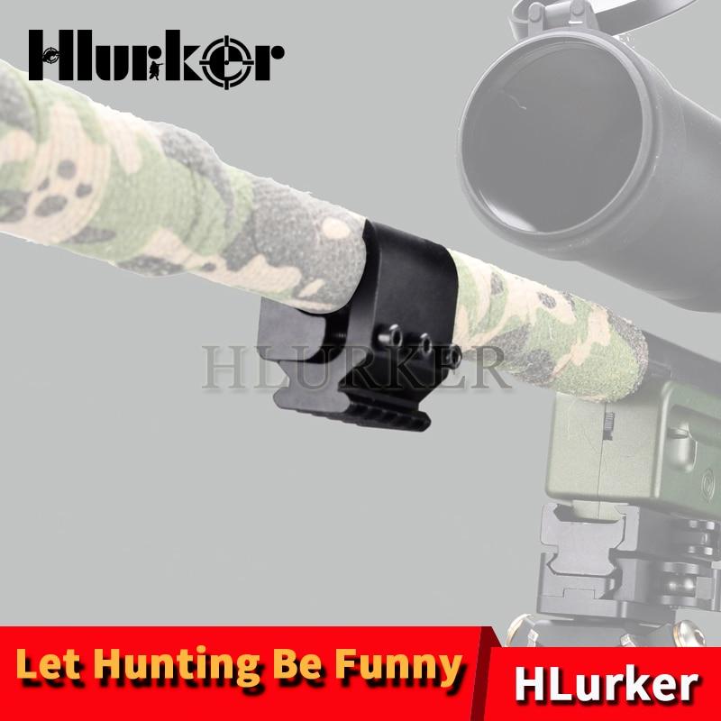 Adaptador de carril Picatinny de escopeta de tubo simple/doble táctico, Base de visión de linterna láser para accesorios de Monte caza de riel de 20mm