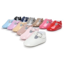 2019 spring brand Pu leather baby moccasins shoes T-bar baby girl ballet princess dress shoes soft s