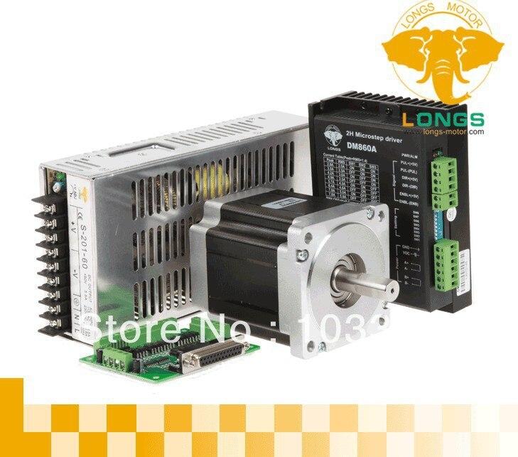 Motor paso a paso DE 1 eje Nema34 con controlador DE motor paso a paso DE 878oz DM860A y láser DE espuma DE molino DE corte CNC DE potencia grabado