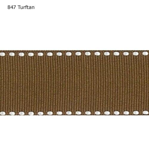 5/8 pulgadas 16mm Cruz Blanca Turftan puntadas cintas