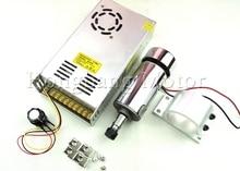 DC12-48V 0.3kw mandrino ER11 motore mandrino CNC 300 W Motore Mandrino + 52mm mount bracket + Alimentazione regolatore di velocità Per DIY CNC