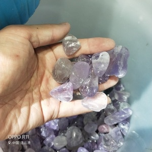 500g Natural Amethyst & fluorite Amethystine small polished raw gemstone Decoration gravel rock gifts for healing