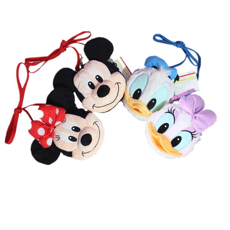 15 cm kawaii mickey mouse minnie brinquedos de pelúcia disney crossbody saco para crianças bonito e elegante presente mochila para adultos