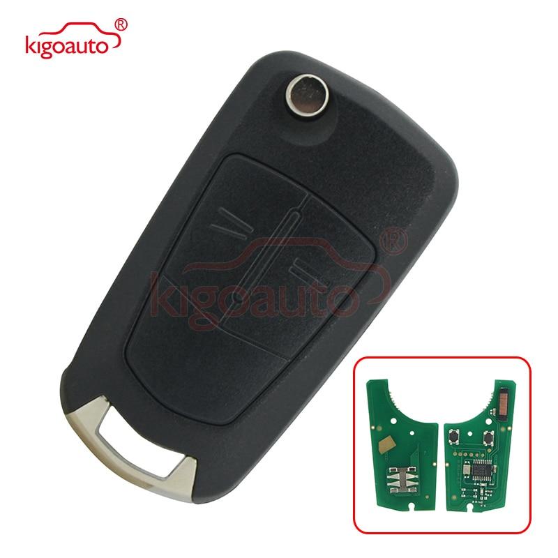 93178494 funda de llave de control remoto 2 botón HU100 433Mhz ID46-PCF7941 chip 736-743-A para Opel Astra H Zafira B 2006 de 2007 de 2008