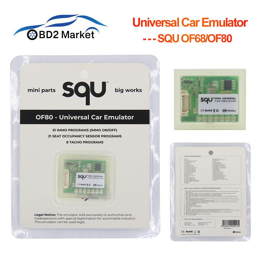 Universal Car Emulator SQU OF80 OF68 Support Immo Programs Tacho Programs IMMO Seat Occupancy Sensor OBD Diagnostic Tool SQUOF80