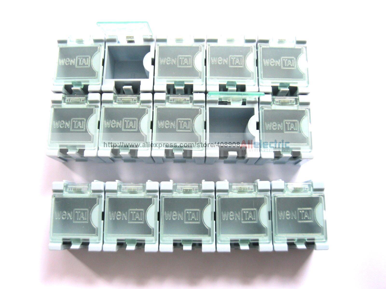 100 x Blue SMD Electronic Component Mini Storage Box
