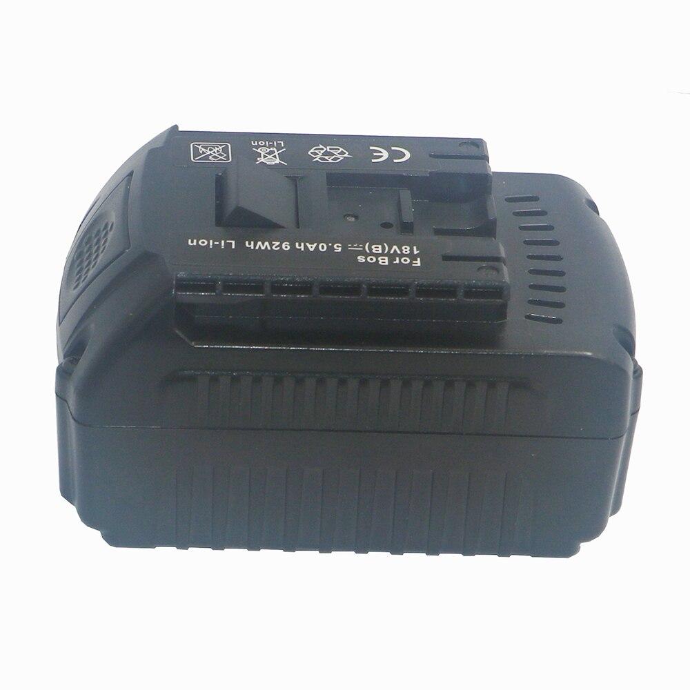 High Quality 18V Lithium Ion 5000mAh Tools Battery for Bosch BAT609 BAT618 2607336169 BAT618G BAT609 Built-in Imported Batteries
