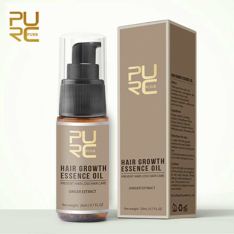 Aceite Esencial de jengibre para el crecimiento del cabello, líquido antipérdida de...