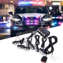 16LED contrôle filaire clignotant voyant davertissement stroboscope Police Signal lumineux rouge ambre blanc bleu LED feu de jour feu antibrouillard