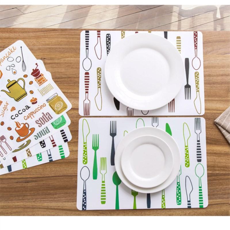 Manteles creativos de PVC para mesa de comedor, manteles individuales impermeables antideslizantes,...