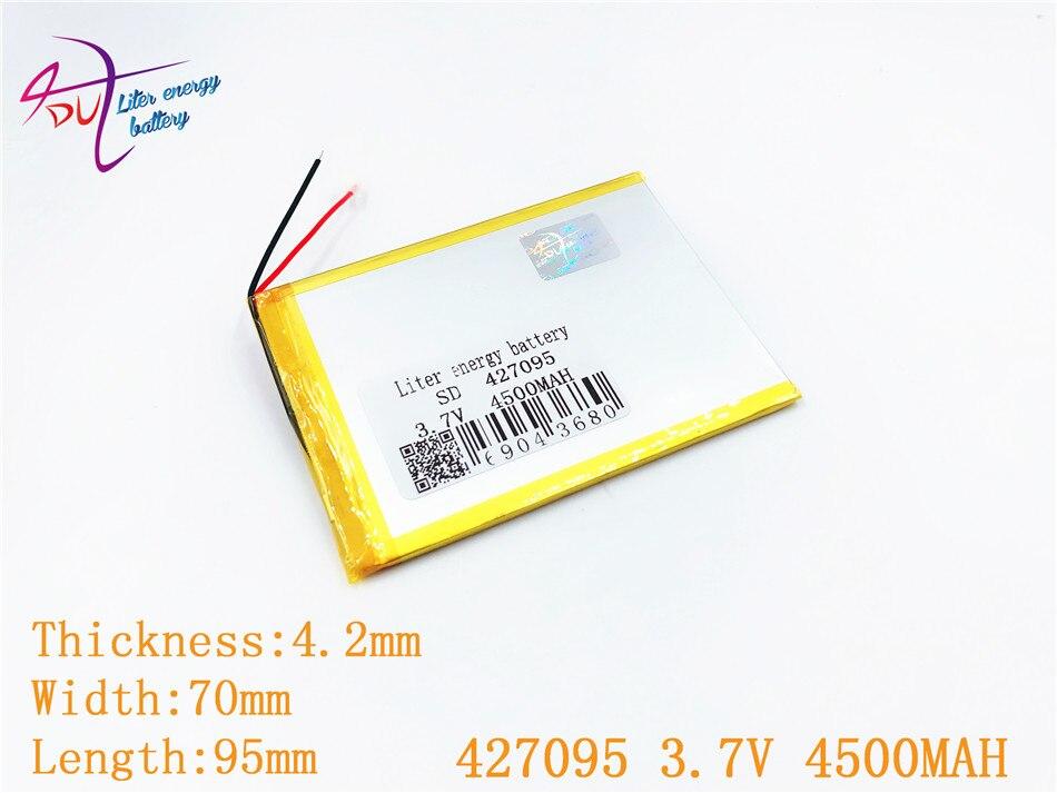 427095 3,7 V 4500MAH 407095 Li полимерный литий-ионный аккумулятор для планшетных ПК PDA PSP IPAQ DVD MID DIY электронная книга Power bank Toys Phone