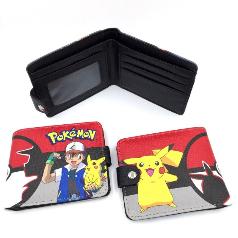 Бумажники с застежкой нового дизайна, милый кошелек pokemon go, Карманный Кошелек с монстрами, бумажники с Пикачу, Мультяшные, детские, лучший подарок