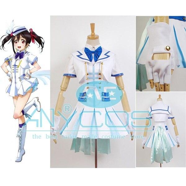 LoveLive Cosplay disfraz maravilloso prisa Nico Yazawa uniforme, vestido de verano de mujeres, la fiesta de disfraces Cosplay traje