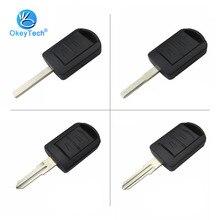 OkeyTech для ключа OPEL, 2 кнопки, без выреза, пустой HU100/HU43/левое/правое лезвие, держатель батареи, пульт дистанционного управления для Vauxhall Opel