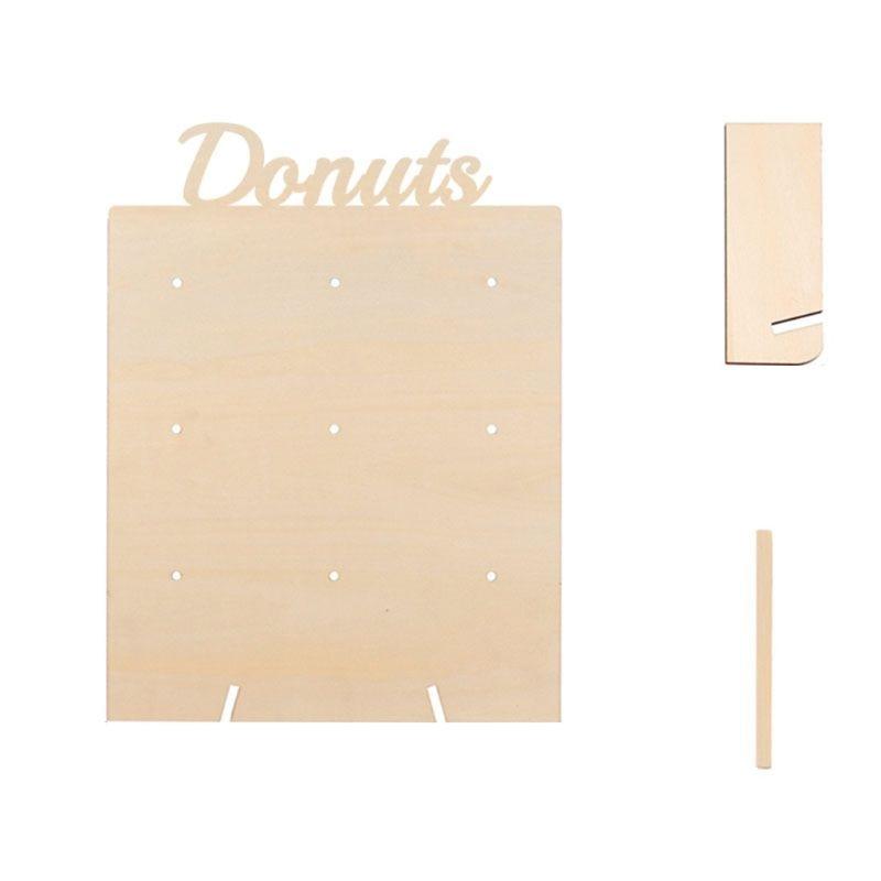 DIY Donuts soporte de pared caramelo dulce carro soporte de madera Mesa fiesta de cumpleaños de boda suministros decoración del hogar
