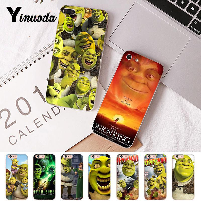 Yinuoda gracioso Shrek de suave Goma de TPU cubierta de teléfono de lujo para iPhone 8 7 6 6S Plus X XS X MAX 5 5S SE XR 10 cubierta Capa