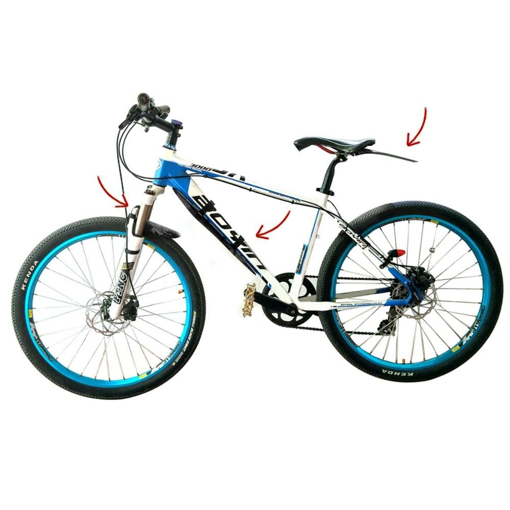 Bisiklet çamurluk seti bisiklet aksesuar bisiklet çamurluklar Downtube/ön/arka çamurluk MTB yol bisikleti aksesuarları 3 parça