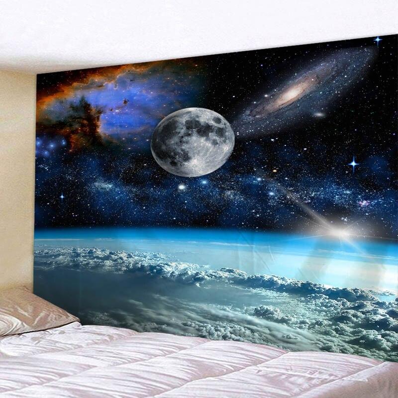 Космический гобелен с 3D принтом, украшение для гостиной, спальни, пляжное полотенце для пикника