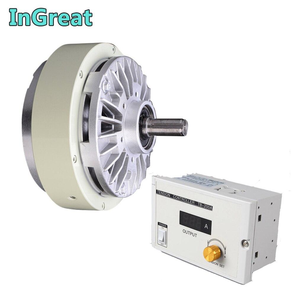 Único freio magnético do pó do eixo 5 kg 50nm dc 24 v um w/3a jogos manuais do controlador da tensão para ensaque que tinge a máquina