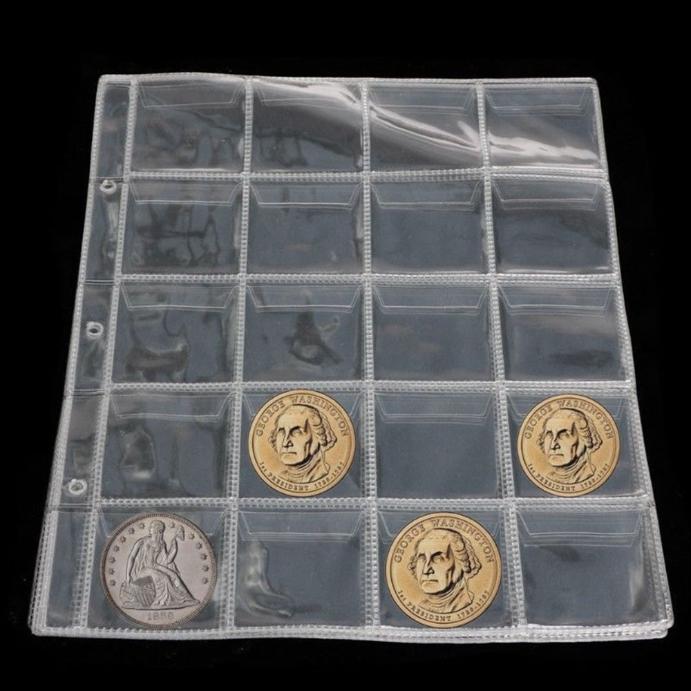 AliExpress - Plastic 20 Pockets Classic Coin Holders Sheets for Storage Collection Album Pockets Coin Storage Coin Purses Free Shipping