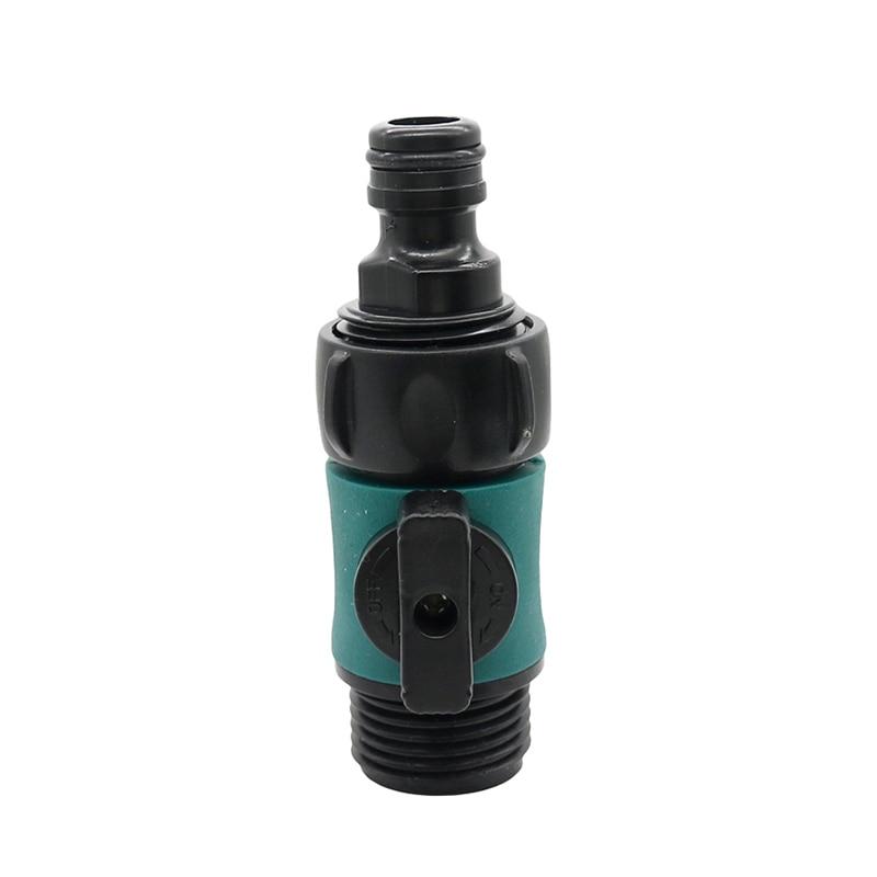 """Válvula de manguera de 3/4 """"rosca macho a 16mm conector rápido jardín accesorios de tuberías de riego lavado de coche Prolong manguera interruptor 10 Uds"""