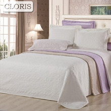 CLORIS Hot Koop Bed Cover Beddengoed Set Deken Op De Bed Gewatteerde Sprei Sprei 230x250 cm 3 STKS kussensloop Quilt Huwelijkscadeau