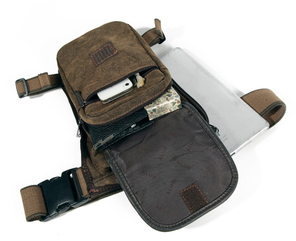 High Quality Men's Canvas Drop Leg Bag Military Motorcycle Multi-purpose Messenger Shoulder Bags Belt Hip Bum Waist Fanny Pack