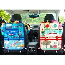 Cartoon  Car Seat Storage Bag Tidy Organiser Multi-Pocket Bag Auto Travel Storage Hanging Holder Kids Baby Cute