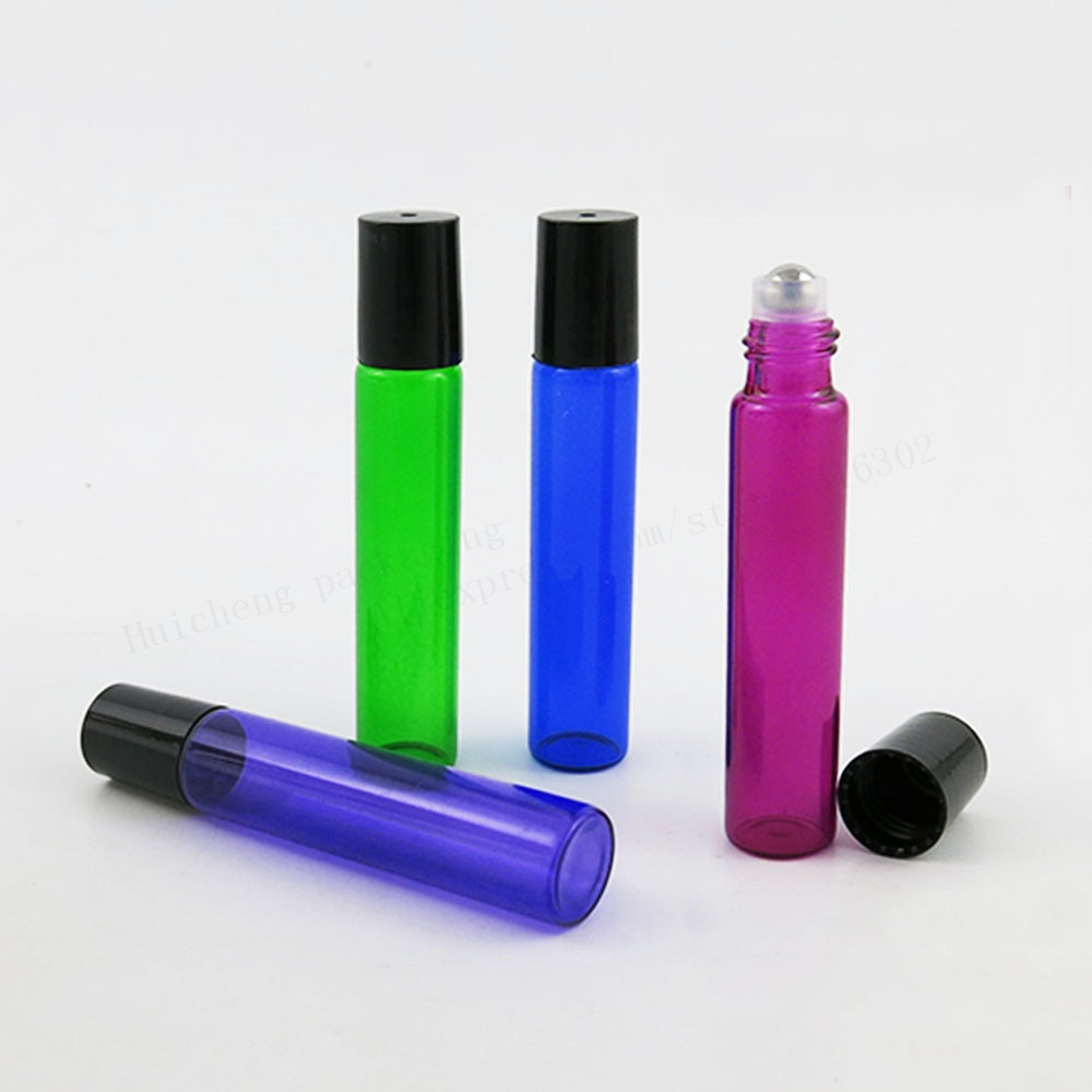 Botellas Vacías de 50x10 ml para aceites esenciales, botellas de perfume de vidrio rellenables en rollo de 10 CC, envases de desodorante